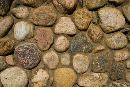 An architectual detail or a backround of a river stone wall.