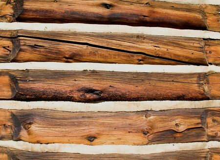 Good detail of a 19th century log wall in Frisco, Colorado.
