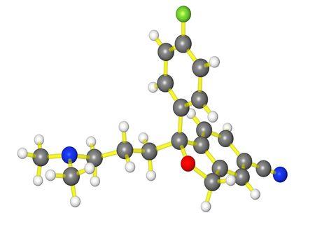 Molecular model of escitalopram