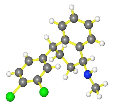 Molecular model of sertraline