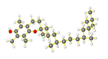 vitamin: Molecular model of Vitamin E