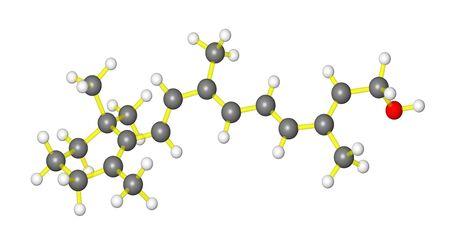Molecular model of Vitamin A photo