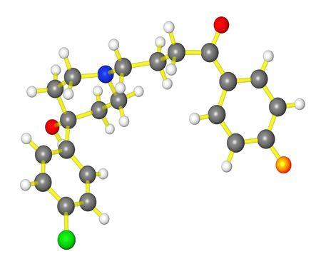 Molecular model of antipsyschotic drug haloperidol
