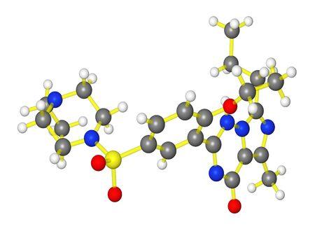 impotence: Molecular model of ED drug vardenafi