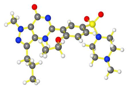 impotence: Molecular model of ED drug sildenafil