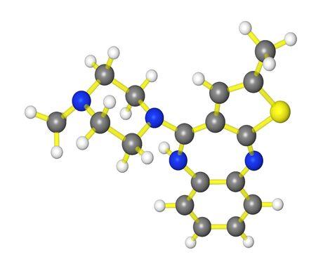 Molecular model of antipsyschotic drug olanzapine