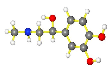 adrenaline: Molecular model of adrenaline Stock Photo