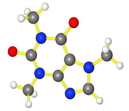 Molecular model of caffeine
