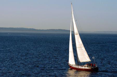 puget: Sailboat Stock Photo