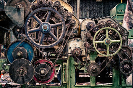 antique factory: Sprockets and Wheels