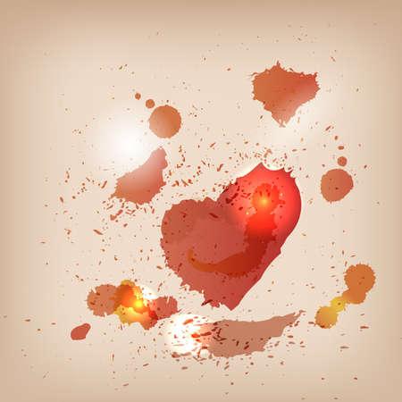 Grunge Achtergrond van het Hart
