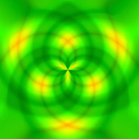 trefoil: Green abstract trefoil background