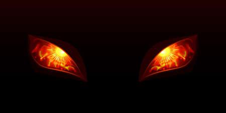 Świecące oczy wektor illustartion