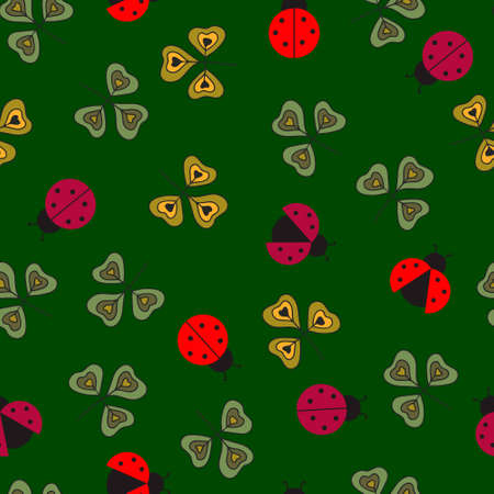 Ladybugs pattern Vector