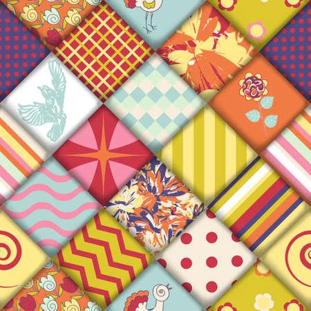 Quilt block seamless pattern