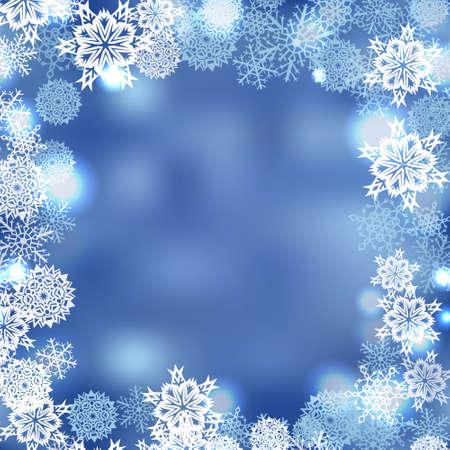 Vector winter sneeuwvlokken abstract ijskoude achtergrond