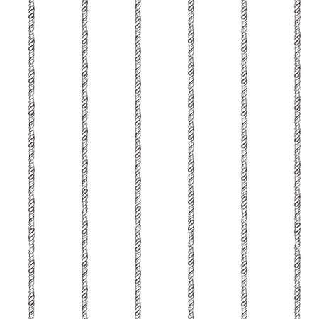 Zwarte en witte touwen marine naadloos patroon