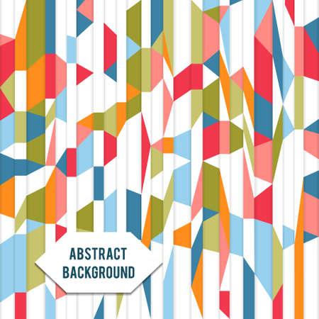 Retro vintage geometrische vector papier mozaïek achtergrond