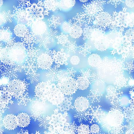 Sneeuwvlokken naadloze patroon vector winter sneeuw achtergrond