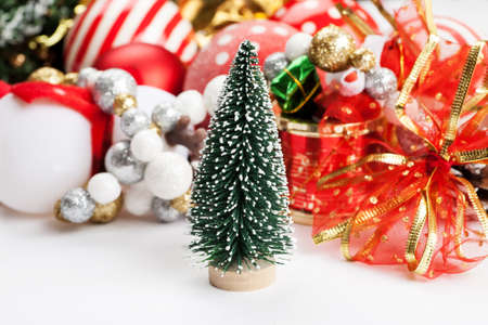 set of different christmas decorations closeup shot stock photo 93654610 - Different Christmas Decorations