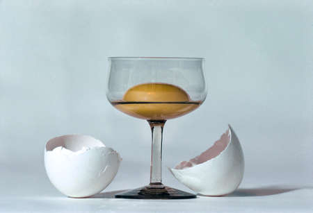 yellov: egg yolk in glass