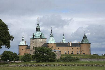 Kalmar Castle on a summer south side