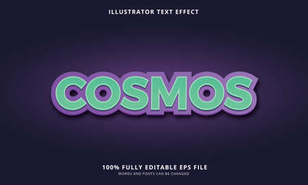 Editable text effect title style