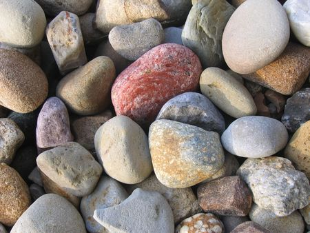 Colorful Rock Bed Stock Photo