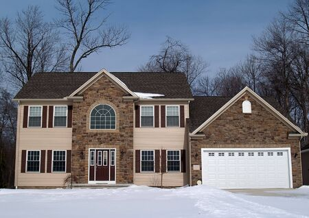 A newly constructed home, ready for new owners