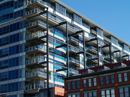 Luxury apartments in downtown Cleveland, Ohio Stock Photo