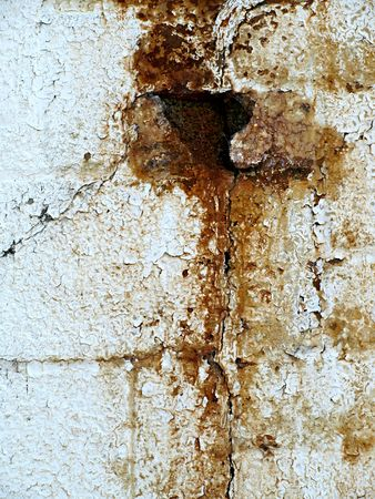 textural: Grungy rust stains make an interesting textural background