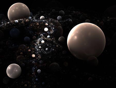 lejos: Fractal ilustraci�n generada por ordenador de una lejana galaxia