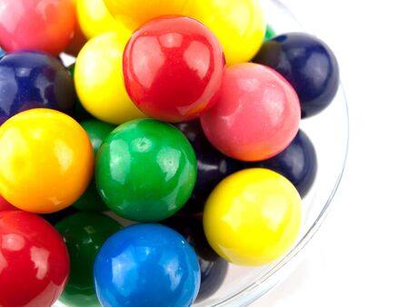 Colorful Gumballs on white