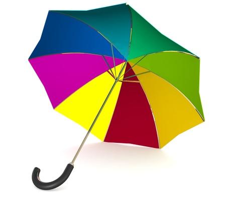 rainbow umbrella: 3d Rainbow umbrella