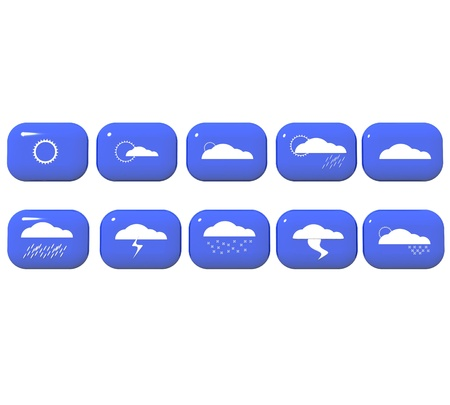 weather report: A set of 3D weather icons