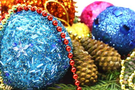 New Years ball on a Christmas tree