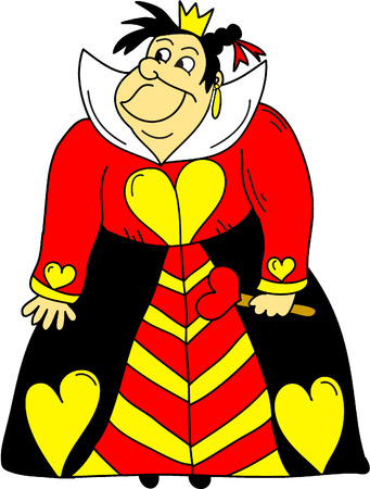 The Queen Of Hearts Clipart- Alice In Wonderland Cartoons Illustration