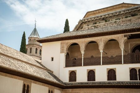 Architecture inside the Alhambra