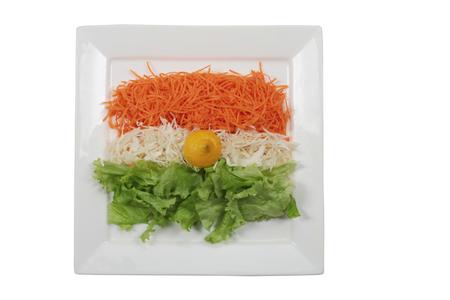 indian flag food Stock Photo