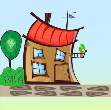 fun house for cartoon heroes  eps10 Vector
