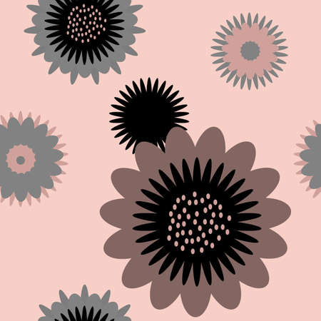 seamless floral background in pastel colors, the pattern of floral motifs Vector