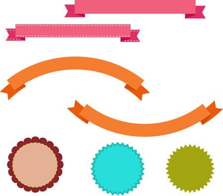 chatbox: Vector ribbons and labels