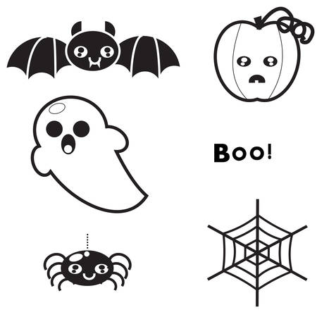catchy: Set of elements for design background and poster for Halloween