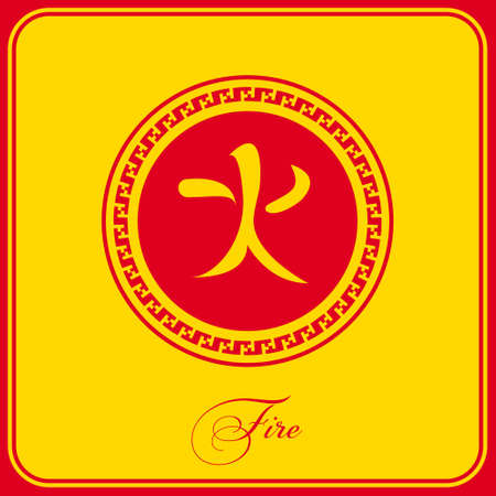 denoting: The poster is a Chinese  character denoting fire, flame