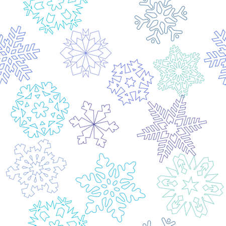 seamless: Seamless pattern from snowflakes Illustration