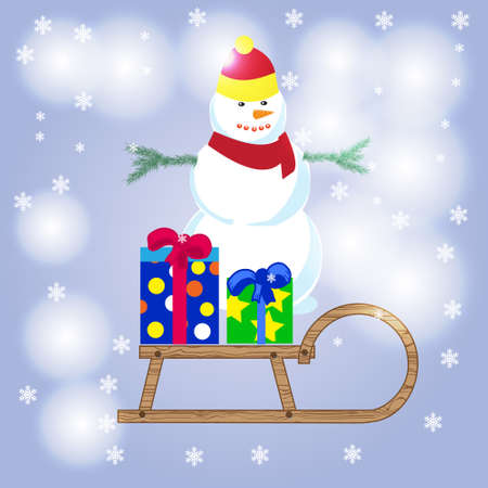 snowman cartoon: Merry Christmas, happy snowman, snowman , snowman christmas, snowman background,  snowman cartoon, cute snowman, snowman wallpaper Illustration