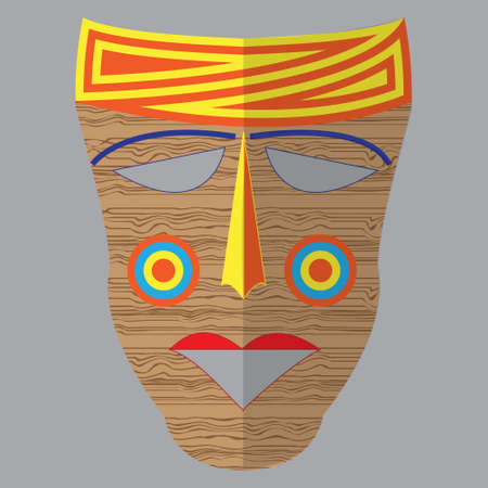 african mask: colorful ethnic African mask