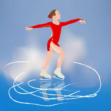 active life: girl skater Illustration