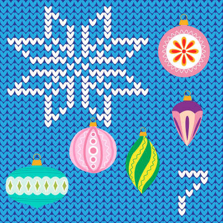 advent calendar: Colorful advent calendar, countdown to Christmas ,seven days, Christmas poster - Christmas decorations on knitted background