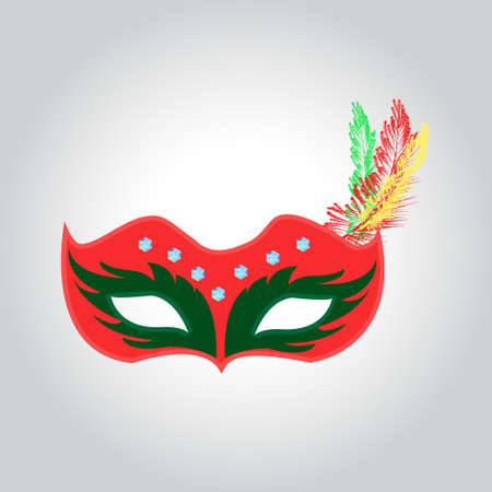 Mask for carnival or masquerade crystals Shine, vector illustration for poster, ads, postcards